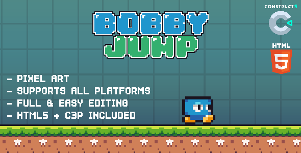 ✅ Bobby Jump – HTML5 Game Nulled