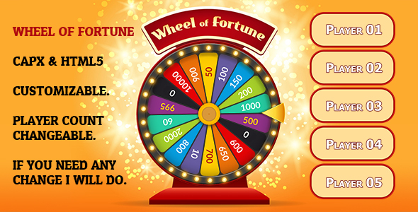 ✌Wheel of Fortune Game (CAPX and HTML5) Nulled