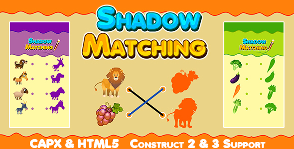 ✌Shadow Matching Game (CAPX and HTML5) Kids Learning Game Nulled