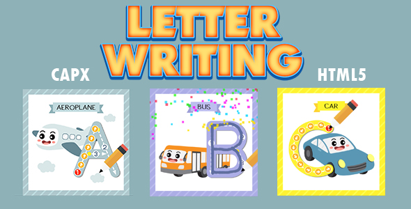 ✅ Letter Writing (CAPX and HTML5) Kids Education Game Nulled