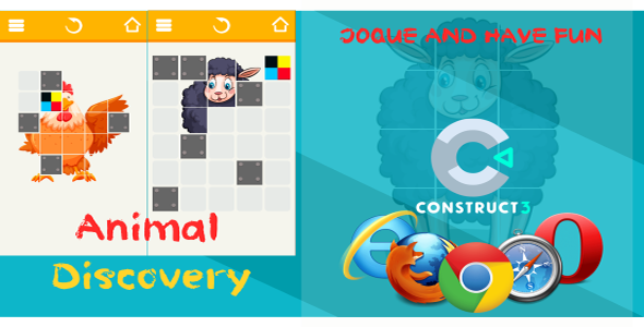 ✅ Animal Discovery HTML5 (Puzzle Game) – (includes c3p Construct 3 source code) Nulled
