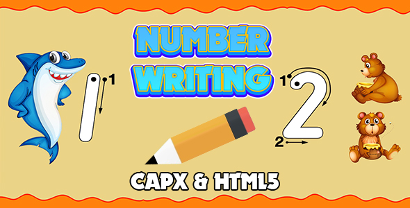✨Number Writing v2 (CAPX and HTML5) Kids Game Nulled