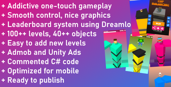 ✅ Unity Game Template – Cup Balancing Nulled