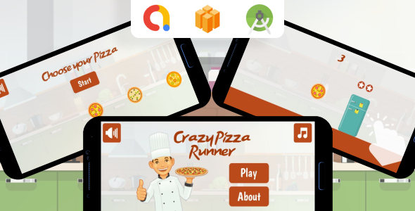 ✌Crazy Pizza Runner Android Game (Buildbox project + Android Studio Project + Admob Ads) Nulled