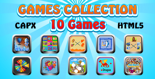 ✌Game Collection 18 (CAPX and HTML5) 10 Games Nulled