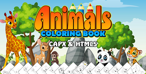 ✨Animals Coloring Book App (CAPX and HTML5) Nulled