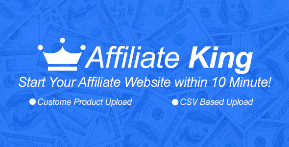 ✨Affiliate King – CSV Based All in One Affiliate Store Nulled