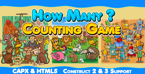 ✅ How Many (CAPX and HTML5) Kids Counting Game Nulled