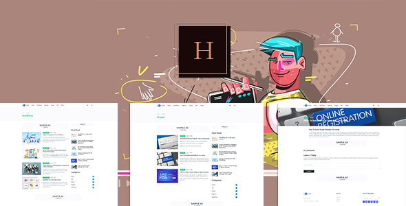 ✅ Hcode – News Programming System with Website Nulled
