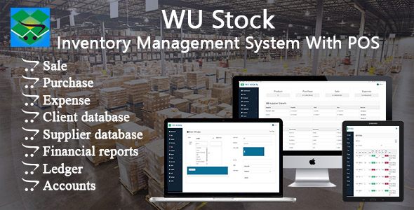 ✌WU Stock – Inventory Management System With POS Nulled