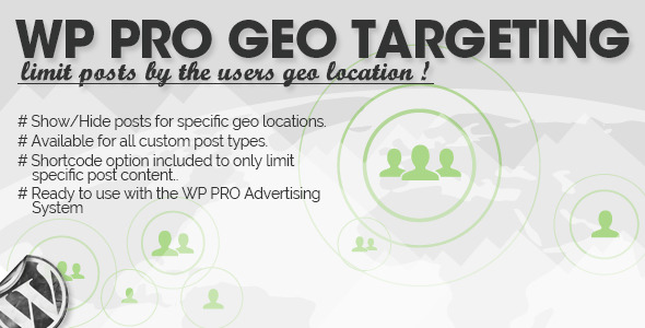 ✅ WP Pro Geo Targeting Nulled