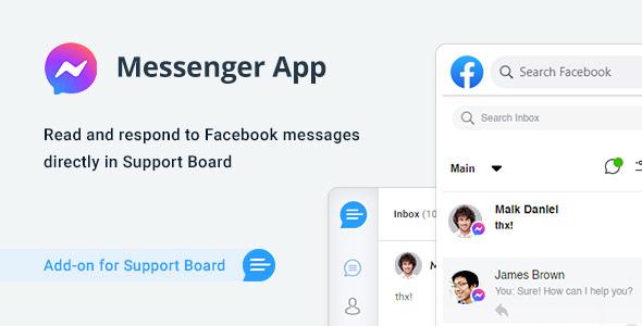 ✅ Facebook Messenger App for Support Board Nulled