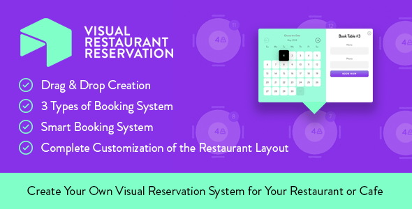 ✅ Visual Restaurant Reservation –  WordPress Booking System Nulled