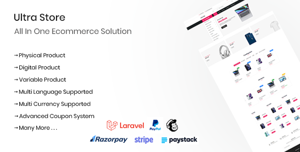✅ Ultra Store – All In One Ecommerce Solution Nulled