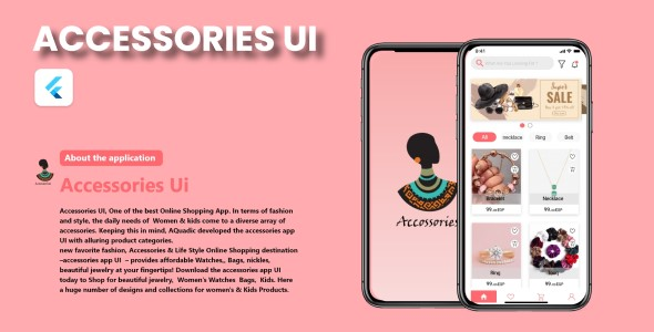 ✨Accessories E-Commerce App – Flutter UI Kit – Android & iOS Nulled