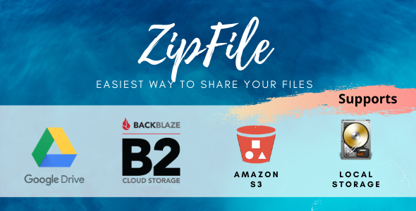 ✅ ZipFile : File sharing made easy & profitable. Use Google Drive, S3 and Backblaze to host files. Nulled