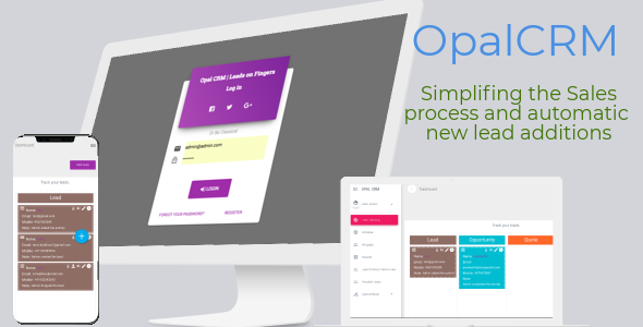 ✨OPAL CRM – Self hosted Smart CRM application for  Lead Management Nulled