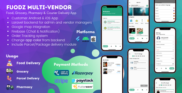 ✅ Fuodz – Grocery, Food, Pharmacy Store & Parcel/Courier Delivery Mobile App with PHP Laravel Backend Nulled