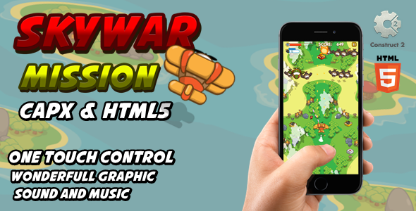 ✌Skywar Mission – Html5 Game Nulled