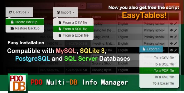 ✨PDO Multi-DB Info Manager Nulled