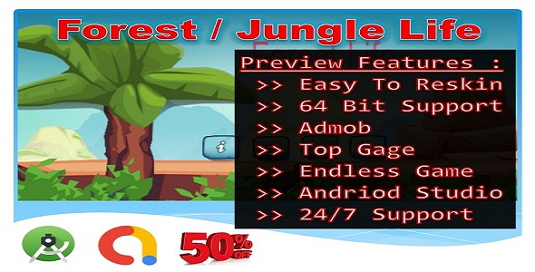 ✌Jungle Forest Life (Compete game+admob+android) Nulled