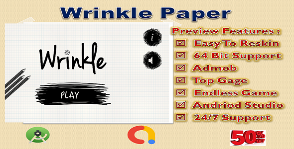 ✨Wrinkle Paper (Compete Game+Admob+Android) Nulled