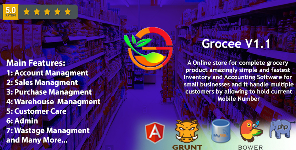 ✨Grocee – Complete Grocery store Backend with Telecaller Nulled