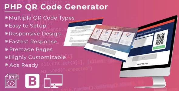 ✌QR Maker –  A PHP QR Code Generator Nulled