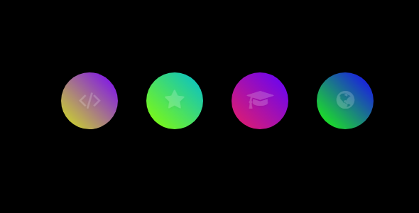 ✨Glowing Gradient Icon Hover Effect Nulled