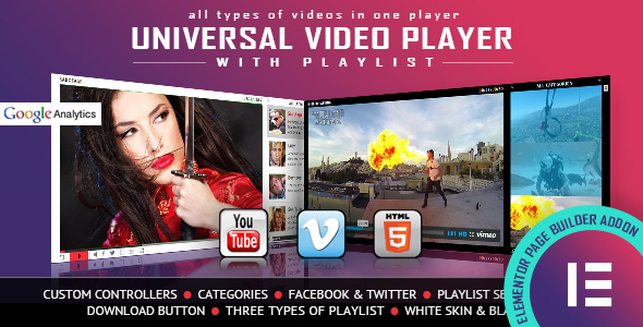 ✅ Universal Video Player – YouTube/Vimeo/Self-Hosted – Elementor Widget Nulled