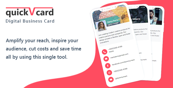 ✌QuickVCard – Digital Business Card SaaS PHP Script Nulled