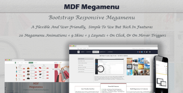 ✅ MDF Megamenu – Bootstrap Responsive WordPress Megamenu Nulled