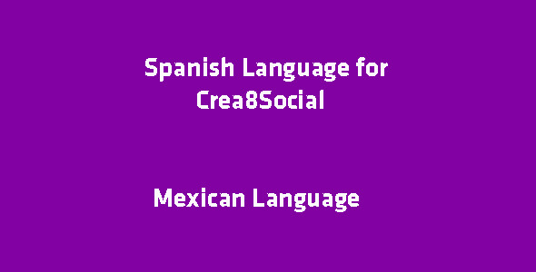 ✅ Spanish Language for Crea8Social Nulled