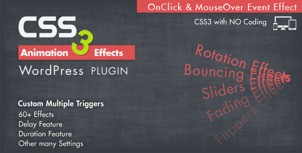 ✅ Animation CSS3 Effects WordPress Plugin Nulled