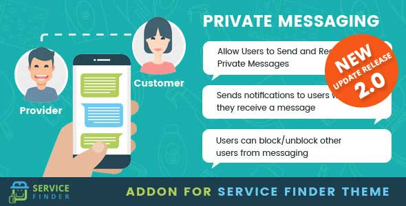 ✨Private Messaging add-on for service finder theme Nulled
