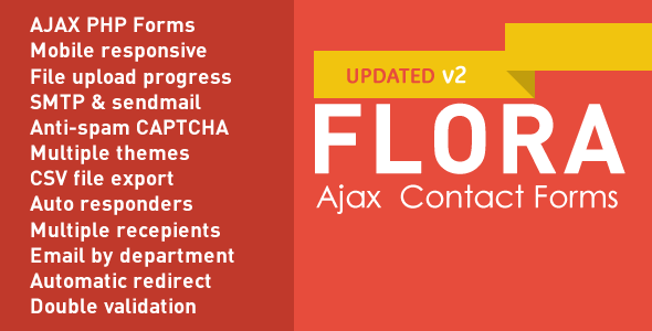 ✨Flora Forms –  Responsive Ajax Contact Forms Nulled