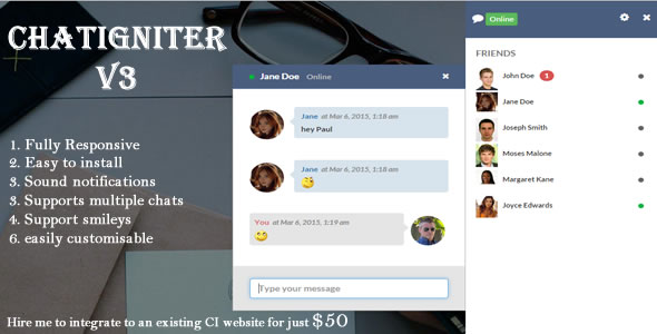 ✌Chatigniter live chat app Nulled