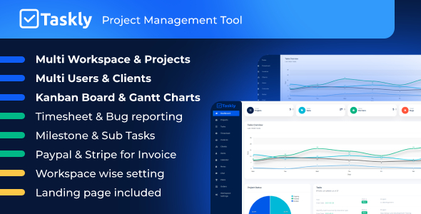 ✌TASKLY – Project Management Tool Nulled
