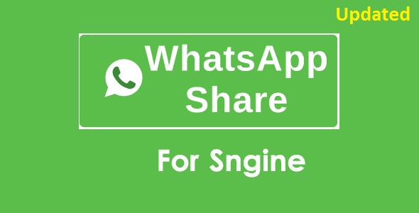 ✅ WhatsApp Share Addon For Sngine Nulled
