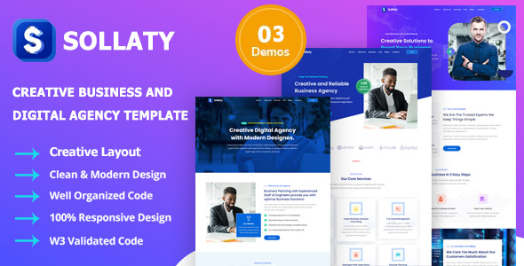 ✅ Sollaty – Laravel Business & Consulting CMS Website Nulled