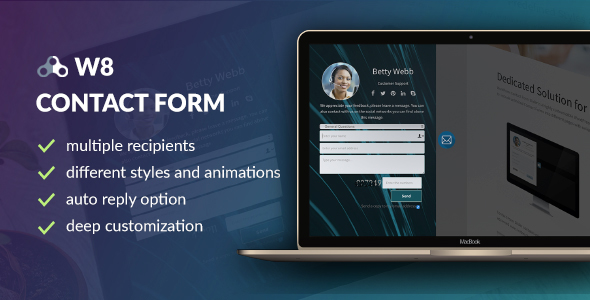 ✌W8 Contact Form – WordPress Contact Form Plugin Nulled