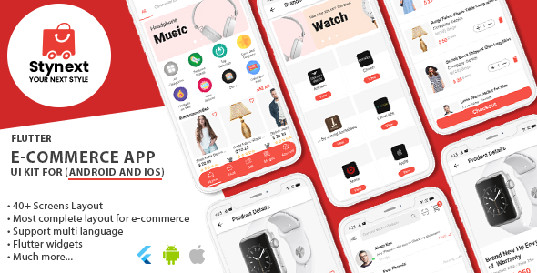✨Stynext – Flutter Ecommerce App UI KIT Template (Android and IOS) Nulled