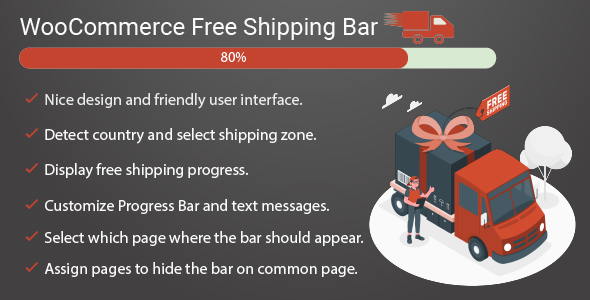✅ Free shipping bar for WooCommerce Nulled