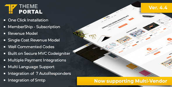 ✅ Theme Portal Marketplace – Sell Digital Products ,Themes, Plugins ,Scripts – Multi Vendor Nulled