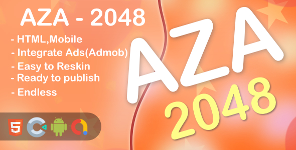 ✌AZA – 2048 Game(Html5 + Construct 3 +Mobile) Nulled