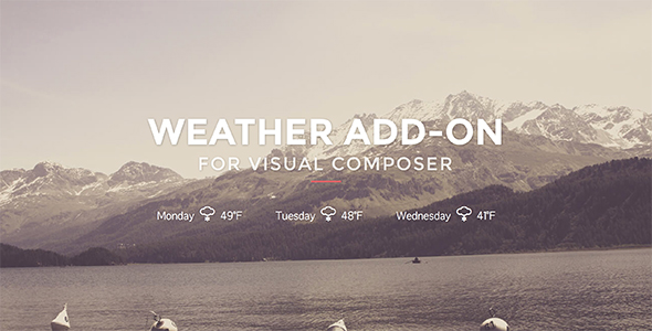 ✌Weather for Visual Composer Nulled