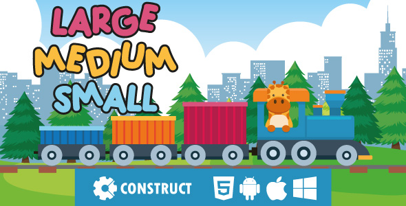 ✅ Large Medium Small – HTML5 Educational Game Nulled