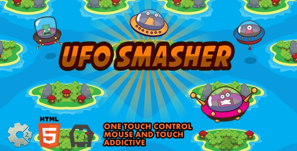 ✅ UFO Smasher – Construct 2 Html5 Game Nulled