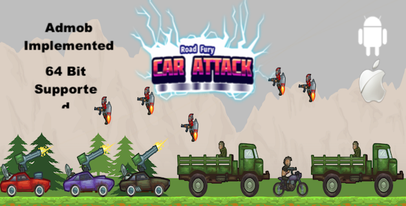 ✅ Road Fury Car Attack – Complete Unity Template Nulled