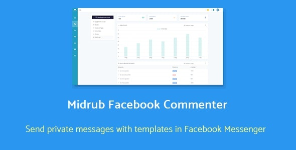 ✨Midrub Facebook Commenter – automatically moderates and sends private messages with templates Nulled